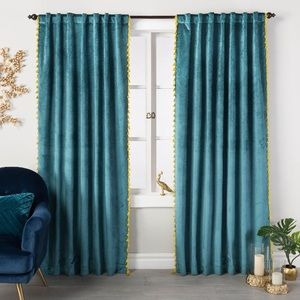 Teal Velvet Curtains